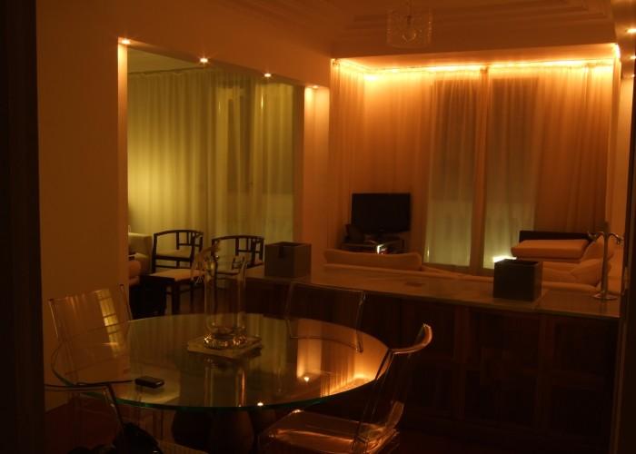 attico PV_Nizza_salone illuminazione