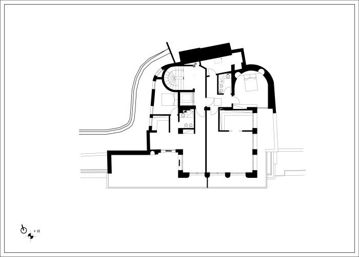 auberge du france_Mentone_pianta piano attico