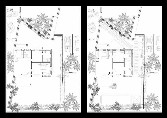 casa B_SaintTropez_prima e dopo_pianta