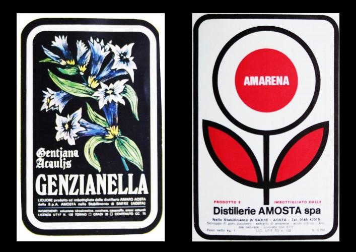 distilleria amaro aosta_genzianella, amarena etichette