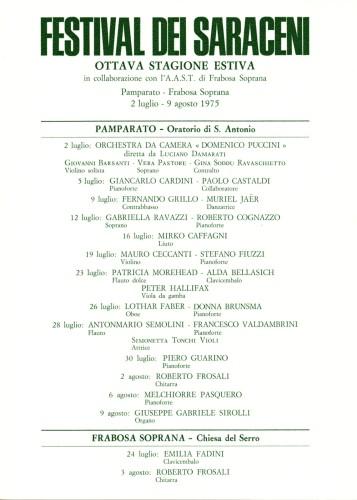 istituto musicale stanislao di pamparato_1975_festiva dei saraceni_locandina