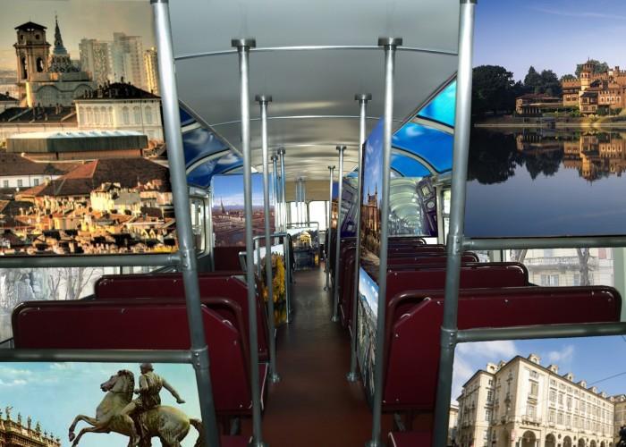 mostra del turismo_1965_pulman_torino_interno piano alto