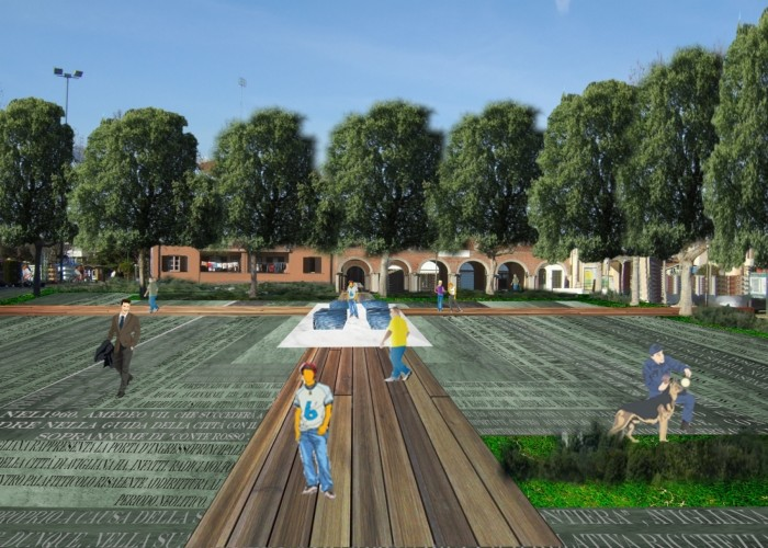 parco Riva_Avigliana_ 2011_piazza popolo  fontana pav verde