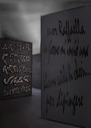 pietro cavallero la pittura dopo la tempesta_chieri_2003_palazzo opesso_corridoio 1