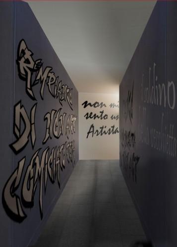 pietro cavallero la pittura dopo la tempesta_chieri_2003_palazzo opesso_corridoio 2