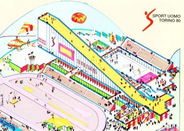 sportuomo torino 80_1980_palavela_torino_assonometria colori