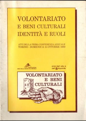 volontariato e beni culturali-identità e ruoli_atti del convegno
